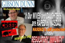 Michael Huston, Douglas Cox, Gibson Dunn Lawyers Cite Regulatory Immunity in NASDAQ Rape